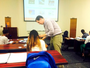 Richard Reeve teaching Savannah State students about financial responsibility.