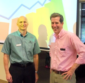 Dale and Richard at an educational seminar.