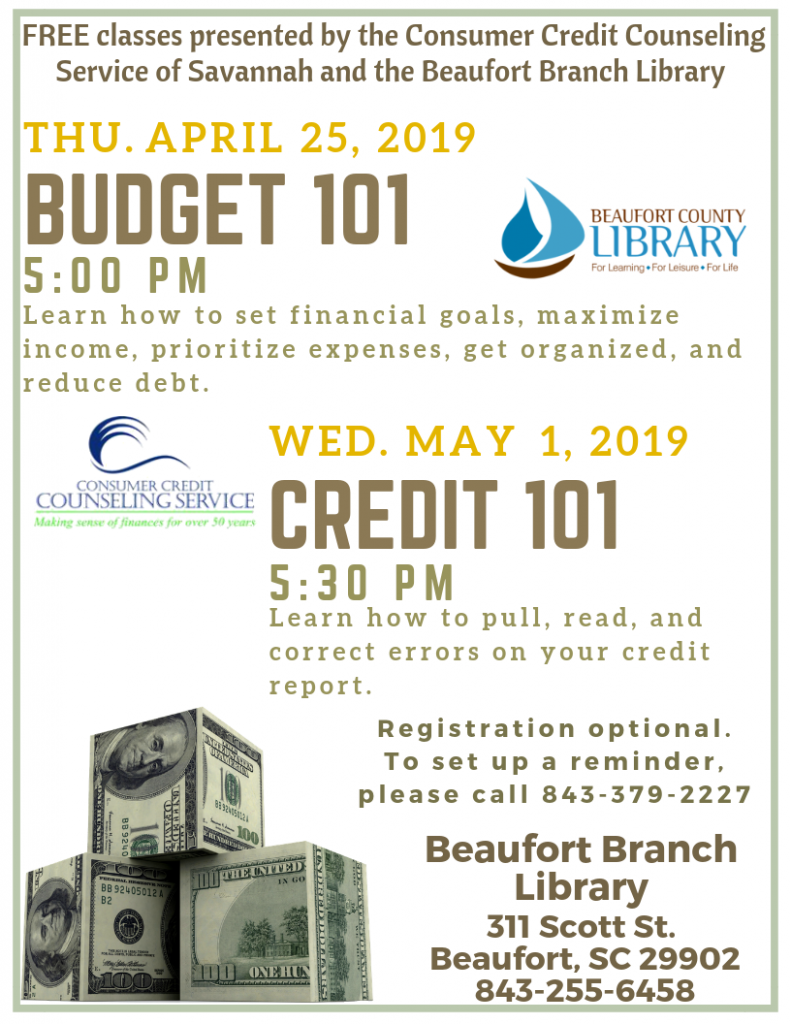 Budget 101 @ Beaufort Branch Library
