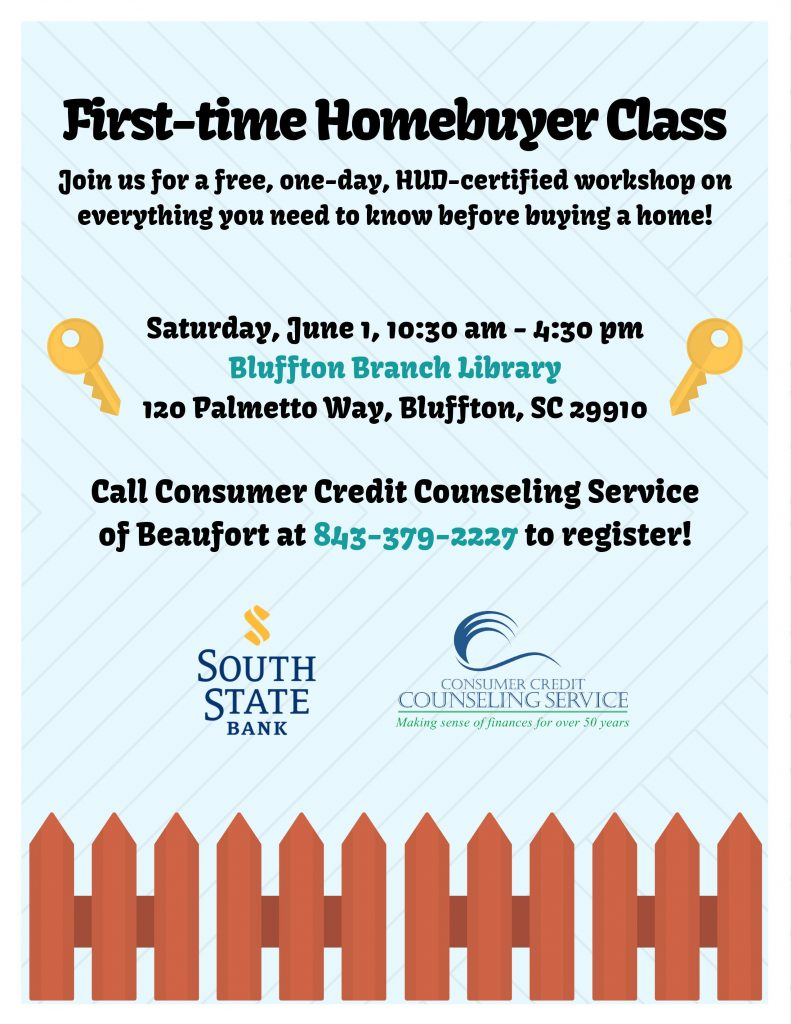 First-time Homebuyer Class @ Bluffton Branch Library