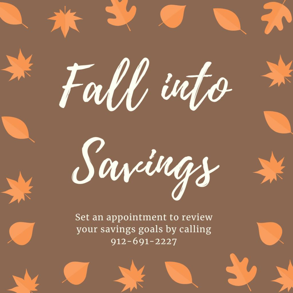 This Year: Fall Into Savings